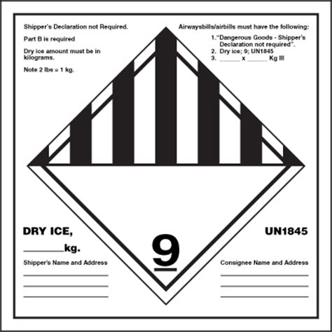 printable dry ice label dry ice dot container label emedco