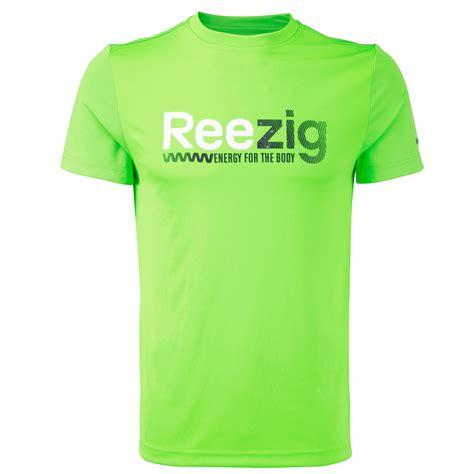 T Shirt Lari Reebok Running Enegy Orange Original reebok mens zigtech playdry running t shirt
