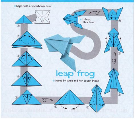 Origami Leaping Frog - purple striped jellyfish reproduction
