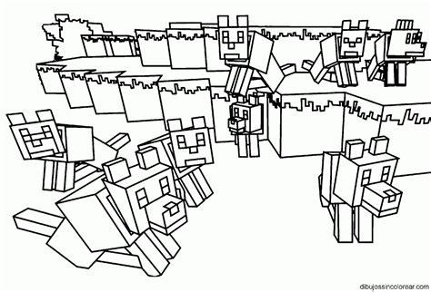 minecraft rabbit coloring pages dibujos de minecraft para colorear