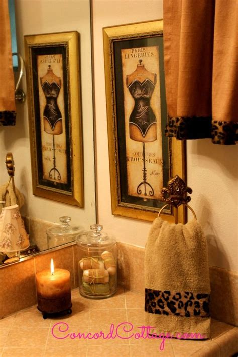 cheetah print bathroom ideas  pinterest