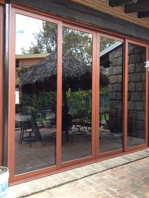 puertas de terraza cancel para salida al jardin o a la terraza 4 puertas