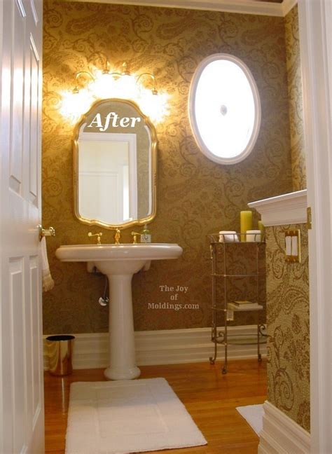 Guest Half Bathroom Ideas by After Half Guest Bathroom The Of Moldings