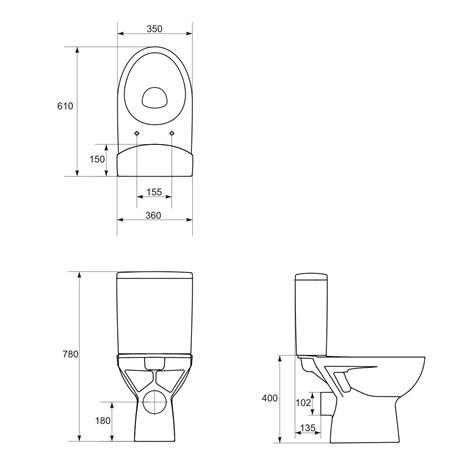 eco toilet dimensions wc kompakt parva 010 z deską duroplastową antybakteryjną