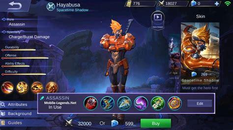 mobile legend damage hayabusa assassin damage build 2018 mobile legends