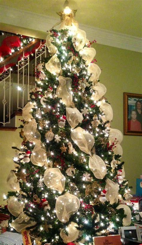 como decorar un arbol de navidad con malla y cinta c 243 mo decorar un hermoso 225 rbol de navidad con mallas