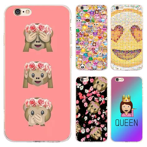 coque monkey emoji emoticons clear soft silicone phone cases for iphone xs max xr x 7 8 6 6s