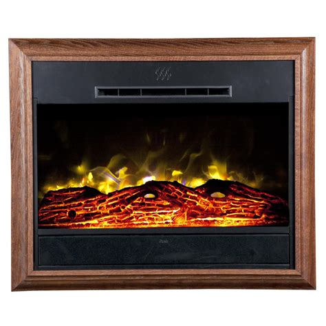 heat surge roll n glow electric fireplace oak gifts