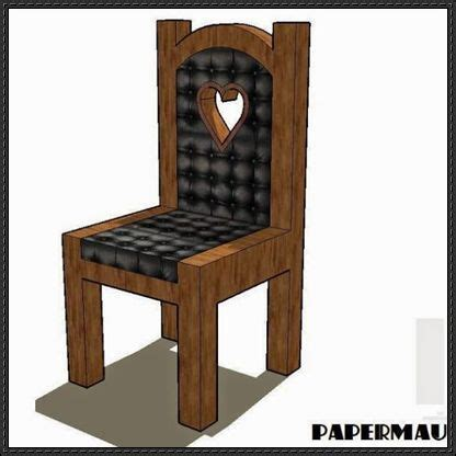 Papercraft Chair - papercraftsquare free papercraft