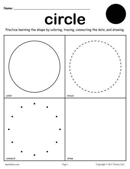 circle coloring pages preschool 450 best images about worksheets activities lesson