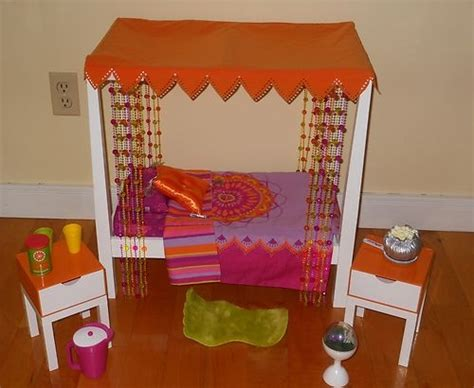 american girl julie bed american girl doll julie s canopy bed with accessories