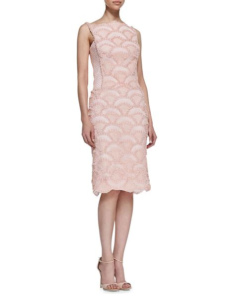 Light Pink Lace Dress by Tadashi Shoji Sleeveless Light Pink Lace Dress 368 The Pink Dress Works For Grown Up