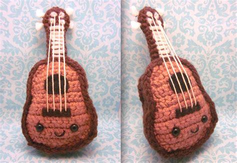 amigurumi violin pattern kawaii ukulele amigurumi crochet plush by spudsstitches on