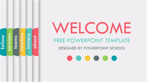 Free Animated Powerpoint Presentation Slide Powerpoint School Slides Templates