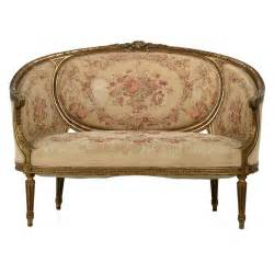 Settee Chair Sale Louis Xvi Style Carved Giltwood Antique Canape