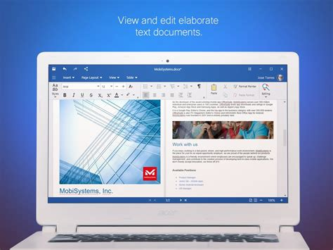 best free office suite for windows 7 mobisystems officesuite makes the jump to windows pc