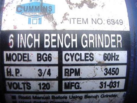 cummins bench grinder 301 moved permanently