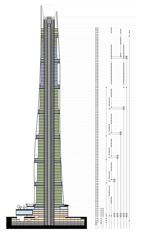 tower section shanghai tower last step construction metalocus