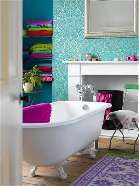 bright bathroom colors bright turquoise paints home trendy