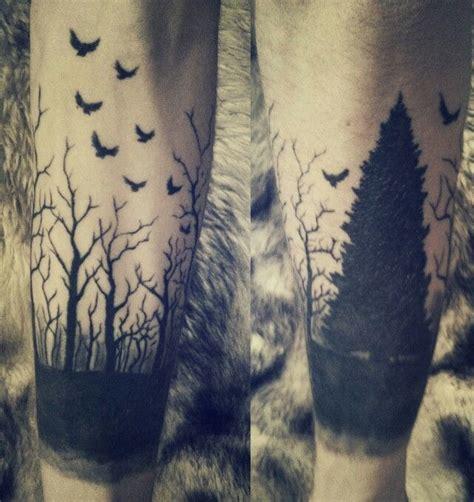 dark forest tattoo forest tattoos