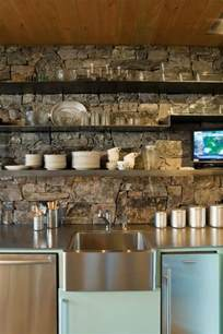 nice Rock Backsplash For Kitchen #1: stone-kitchen-backsplash.jpg