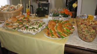 baby shower luncheon pasta and sandwich platters