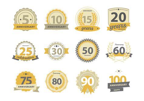 happy anniversary badge   vector art stock