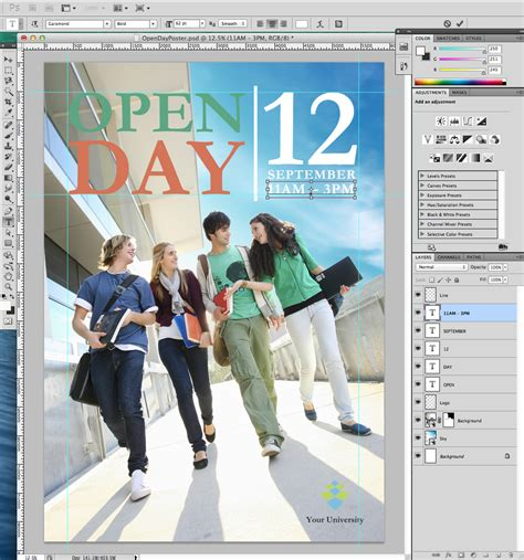 day poster template tutorial open day poster for your 187 saxoprint
