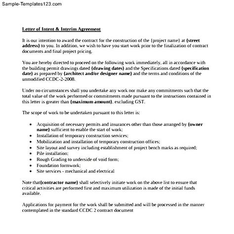 11 Letter Of Intent For A Academic Resume Template ~ Letter Of ...
