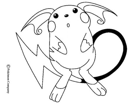 electric pokemon coloring pages raichu coloring pages hellokids com