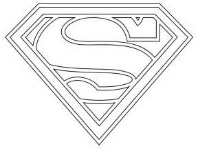 Superman Logo Coloring Page free printable superman coloring pages for