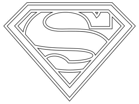 superman logo template for cake heroes coloring print pages colouring for adults