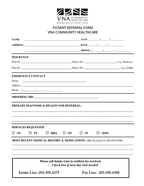 patient referral form template best photos of health care forms templates mental health