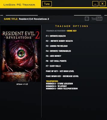 resident evil 5 cheats pc trainer download resident evil revelations 2 trainer all cheats game