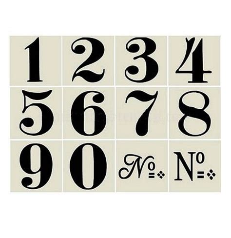 free printable vintage numbers french sign stencils vintage style numbers wall