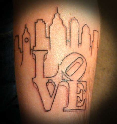 philadelphia skyline tattoo philadelphia skyline tattoos
