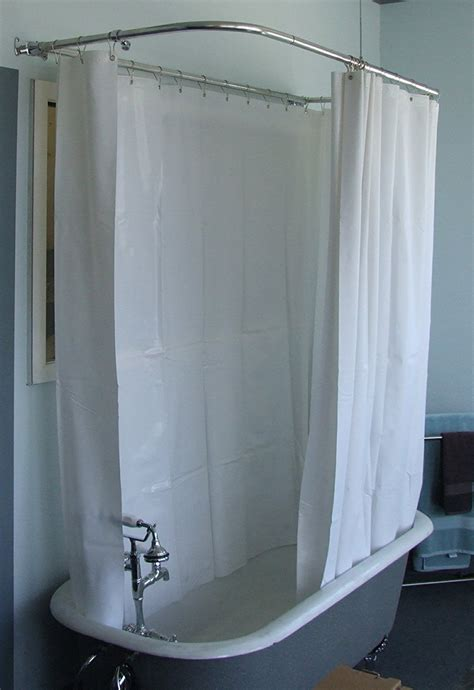 clawfoot tub curtain rod make a shower curtain rod curtain ideas