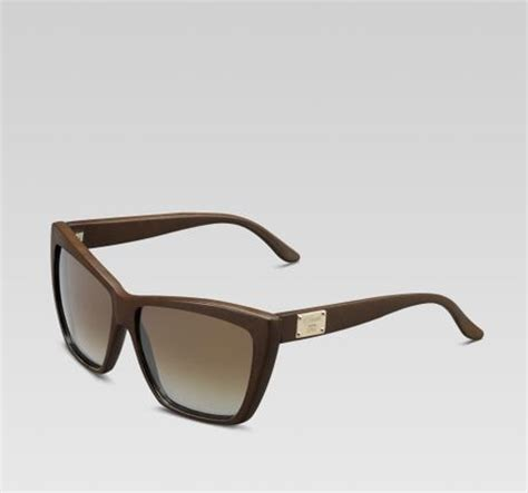 gucci special edition medium rectangle frame sunglasses in