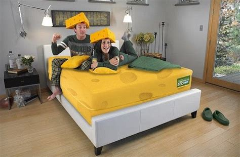 green bay packers bedroom green bay packers cheesehead mattress released in