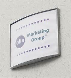 door sign 6 x 7 5 curved wall signage holder