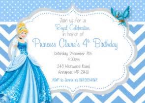 cinderella princess birthday invitation by prettypaperpixels