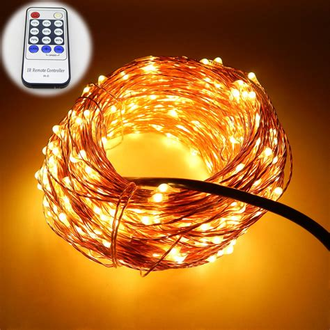 string lights with remote 7 colors 20m 65ft 200 leds copper wire led string light