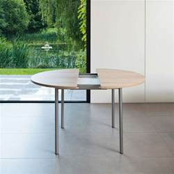 table de cuisine ronde en stratifi 233 basic avec rallonge