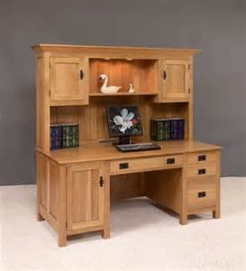 Computer Desk With Hutch Top Amish Large Mission Computer Desk With Hutch Top