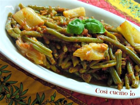 come cucinare i cipollotti freschi fagiolini e cipollotti al pomodoro ricetta con la pentola