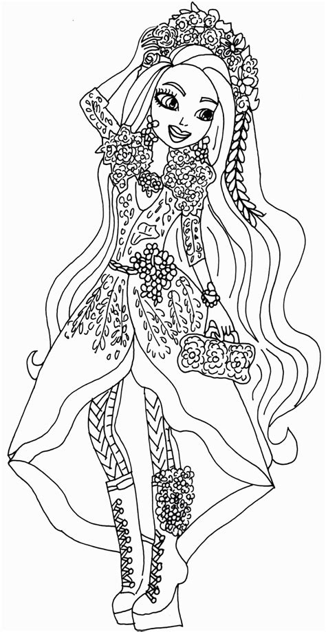 ever after high coloring pages poppy o hair free printable ever after high coloring pages holly o