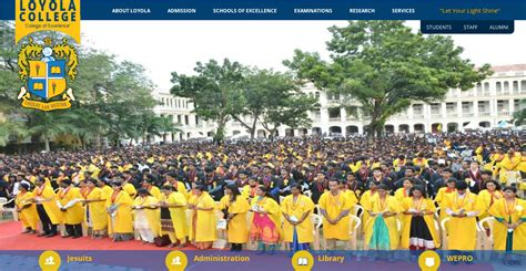 Loyola Chennai Part Time Mba by Yl Loyola College Youth Leadership For A Sustainable