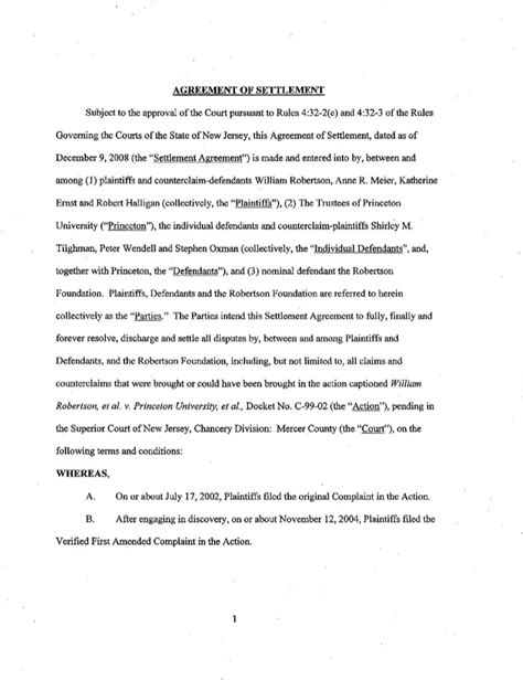 confidential settlement agreement templates download