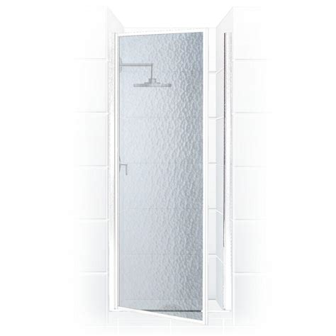 Coastal Shower Doors Legend Series 28 In X 68 In Framed Obscure Shower Door
