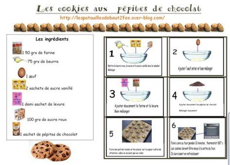 recette cuisine maternelle cookies au chocolat recette pour la classe